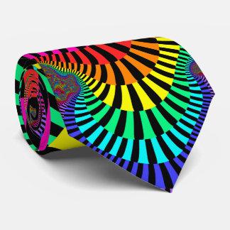 Jazzy Stripes Fractal Tie