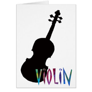 Jazzy Violin Greeting Card