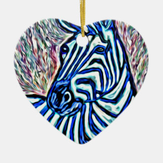 Jazzy zebra christmas ornament