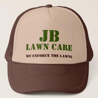 JB, LAWN CARE, We Enforce The Lawns Trucker Hat
