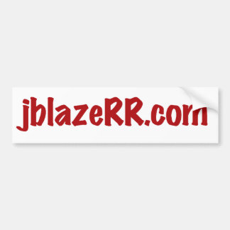 jblazeRR com bumper Sticker