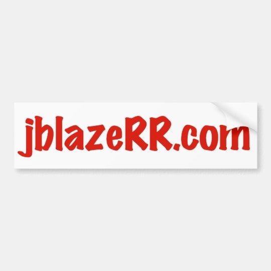 jblazeRR.com Bumper Sticker