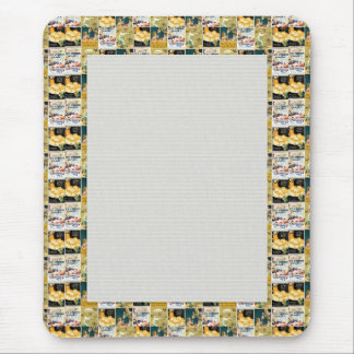 JC2K COLLAGE PHOTOS DIGITAL SCRAPBOOKING COLORFUL MOUSE PADS