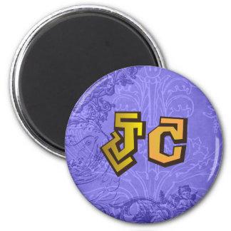 JC jesus christ hiphop by chrisitanstores 6 Cm Round Magnet