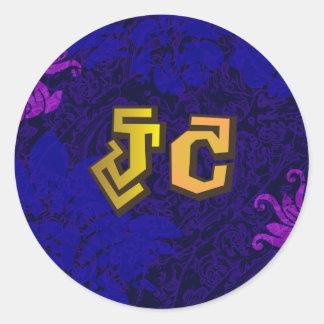 JC jesus christ hiphop by chrisitanstores Classic Round Sticker
