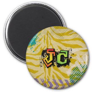 JC Jesus Christ hiphop green 6 Cm Round Magnet