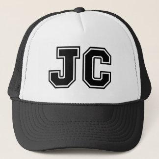 'JC' Monogram Trucker Hat