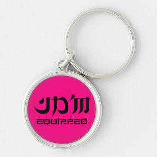 JDM equipped premium keychain round pink edition