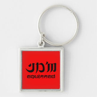 JDM equipped premium keychain square