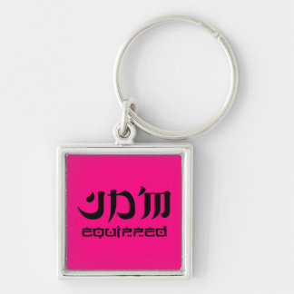 JDM equipped premium keychain square pink edition