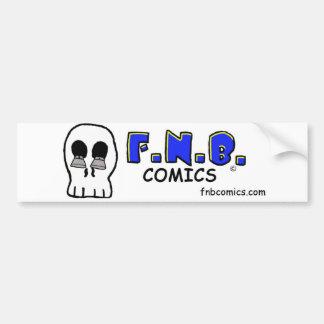 JD's skull with FNBcomics Logo Bumper Sticker