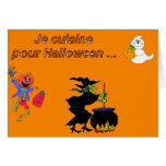 Je cuisine pour Halloween - Greeting Card