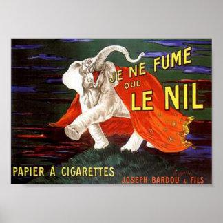 Je Ne Fume Que Le Nil Elephant Ad Poster