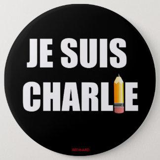 JE SUIS CHARLIE 6 CM ROUND BADGE