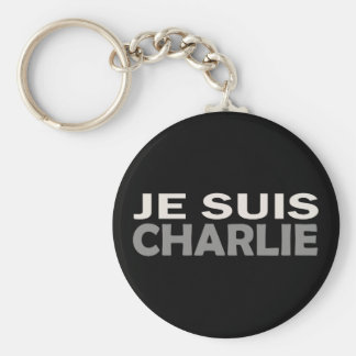 Je Suis Charlie Basic Round Button Key Ring
