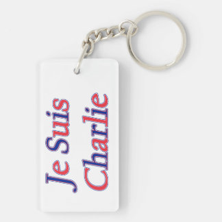 Je Suis Charlie Double-Sided Rectangular Acrylic Key Ring