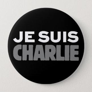 Je Suis Charlie - I am Charlie Black 10 Cm Round Badge
