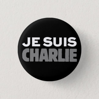 Je Suis Charlie - I am Charlie Black 3 Cm Round Badge