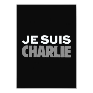 Je Suis Charlie - I am Charlie Black Card