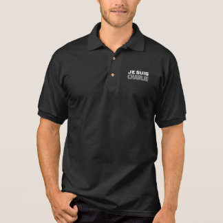 Je Suis Charlie - I am Charlie Black Polo Shirt