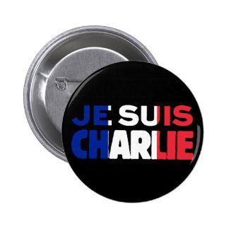 Je Suis Charlie -I am Charlie- Tri-Color of France 6 Cm Round Badge