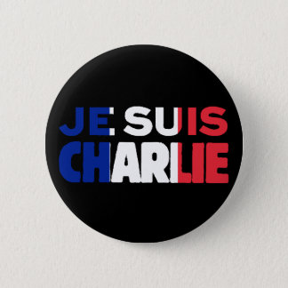 Je Suis Charlie -I am Charlie- Tri-Colour of 6 Cm Round Badge