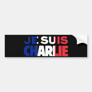 Je Suis Charlie -I am Charlie Tri-Colour of France Bumper Sticker