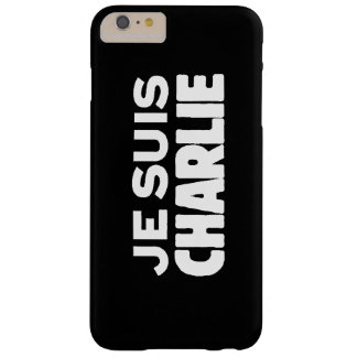 Je Suis Charlie - I am Charlie- White on Black Barely There iPhone 6 Plus Case