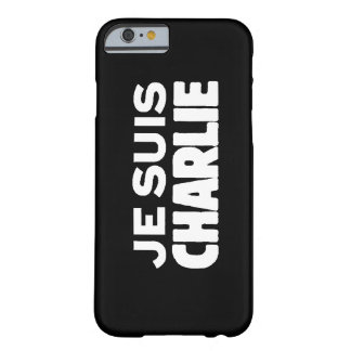Je Suis Charlie - I am Charlie- White on Black Barely There iPhone 6 Case