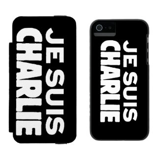Je Suis Charlie - I am Charlie- White on Black Incipio Watson™ iPhone 5 Wallet Case