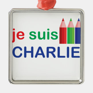 Je Suis Charlie Multi Colour Christmas Ornament