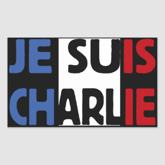 Je Suis Charlie My Pen is my Weapon Rectangular Sticker