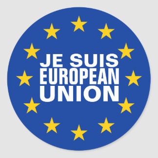 Je Suis European Union Classic Round Sticker