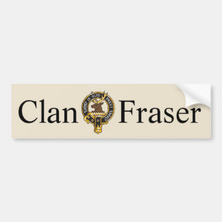 Je Suis Prest - Clan Fraser Crest Bumper Sticker