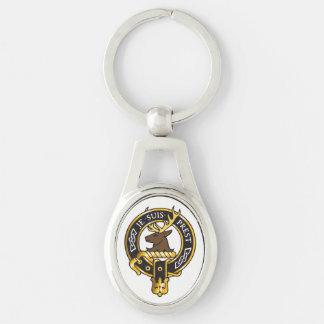 Je Suis Prest - Clan Fraser Crest Silver-Colored Oval Key Ring