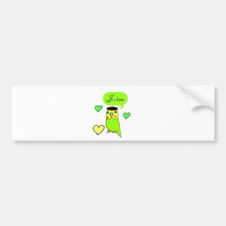 Je t aime bumper sticker