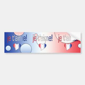 Je t aime French Flag Colors Pop Art Bumper Stickers
