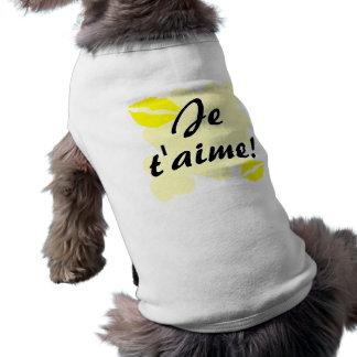 Je t aime - French I love you Pet Tshirt