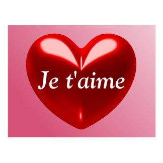 JE T AIME - I LOVE YOU French Postcard