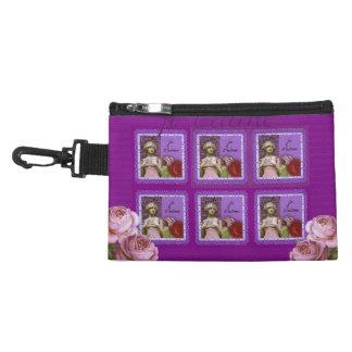 Je T'aime Purple Romantic Girl Vintage Collage Accessories Bag