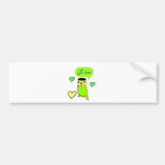 Je t'aime bumper sticker