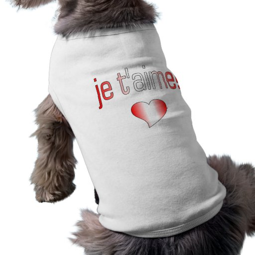 Je t'aime! Canada Flag Colors Pet Clothing