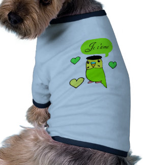 Je t'aime dog clothes
