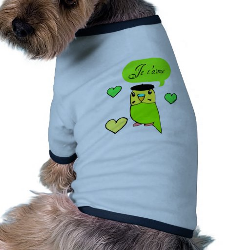 Je t'aime dog clothes