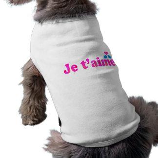 JE TAIME SLEEVELESS DOG SHIRT