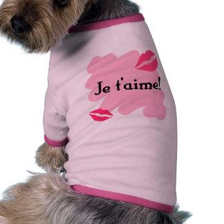 Je t'aime! - French I love you Pet Tee