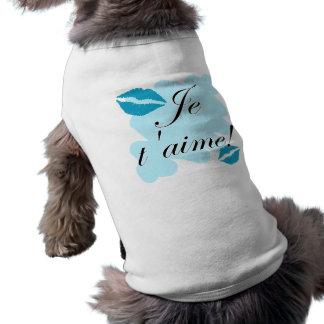 Je t'aime! - French I love you Doggie Tee Shirt