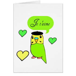 Je t'aime greeting card