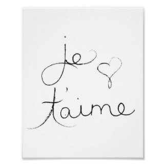 "Je t'aime - "" I love you "" in english - Poster"
