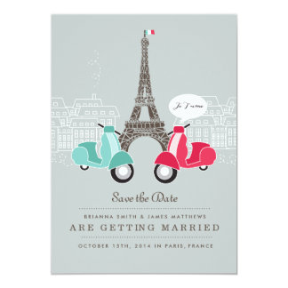 Je T'aime Paris Save the Date Card